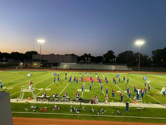 Dance Team and Marching Band Compete