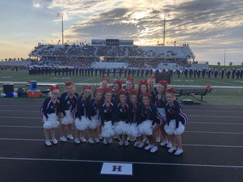 UHS Cheer Squad ready to cheer on the J-Hawks!