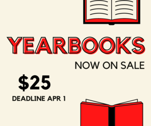 Last Day to Buy a Yearbook
