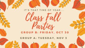 🍁🎃Class Fall Parties