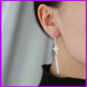 Bianca Earrings Silver (converts)