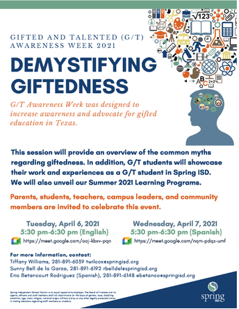 Gifted and Talented (GT) awareness week 2021