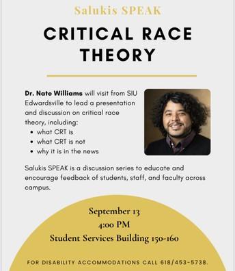 Saluki SPEAK: Critical Race Theory