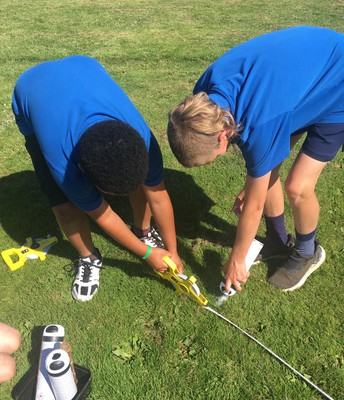 A massive thank you to Ray (our Caretaker), Ajay, Harold and Mabel who helped mark the grounds  ready for our athletics day. The children used a range of maths knowledge to create the marking for each event.