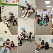 Cougars Reading with Wranglers
