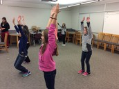 MS Students Engaged in Stress Management Activities