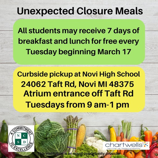 NCSD Food Pickup Flyer