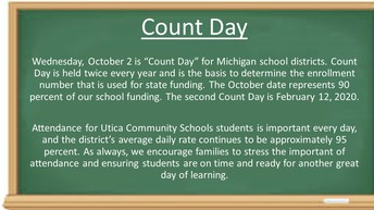 Count Day   October 2nd