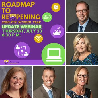 TONIGHT AT 6:30 p.m.: Roadmap to Reopening Update Webinar