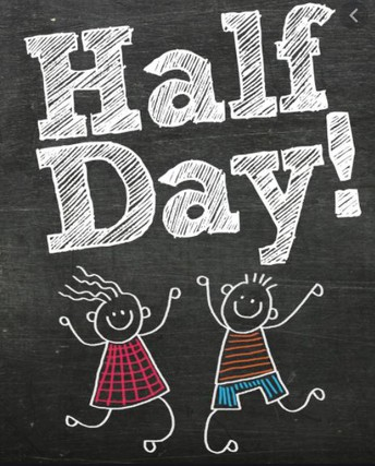 1/2 Days of School Schedule