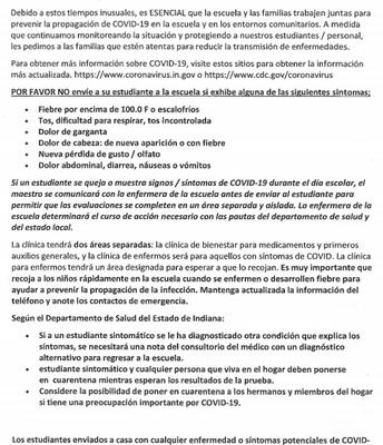 Nurse Letter Spanish page 1