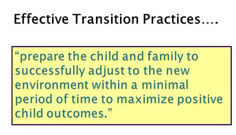 Effective Transitions for Students