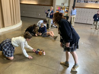 Physics Honors Students Test Mouse Trap Cars