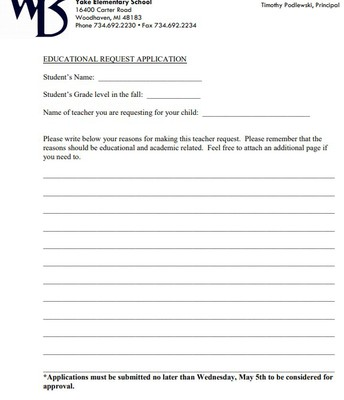 Teacher Request Application