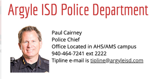 Argyle ISD Police Department Earns National Award!