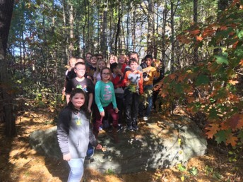 Mrs. Vincent's Class collecting leaves