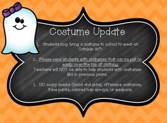 Costume Update