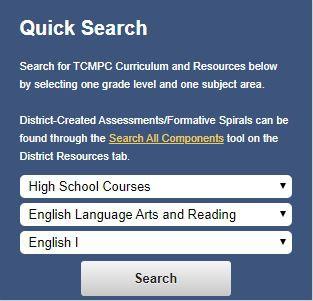 New High School ELAR Curriculum Documents are LIVE!
