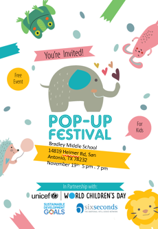 Pop-Up Festival:  Emotions and Wellbeing for Children