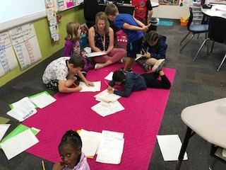 2nd Grade writers at work