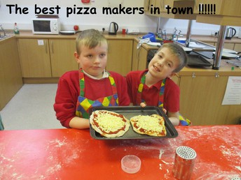 Everyone loved making pizza !