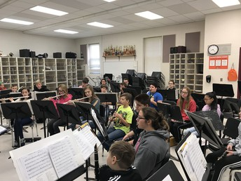 SMS Band Winter Concert Rehearsal