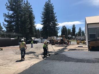 New asphalt on parts of playground