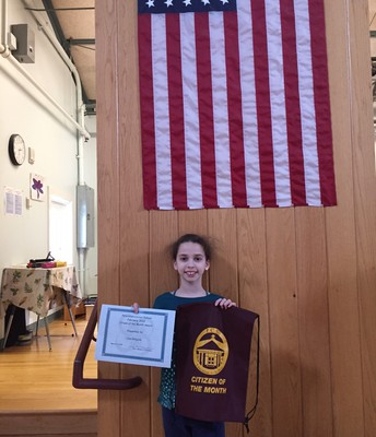 February's 5th grade Citizen of the Month