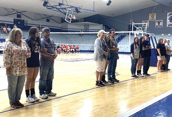 Volleyball Seniors and Parents Recognized