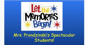 From Mrs. Prondzinski