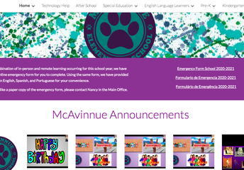 McAvinnue's Virtual & In-Person Learning And Information Spot For Students