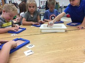 Fun with letters and sand trays in K!