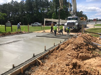 Pouring of the Driveway