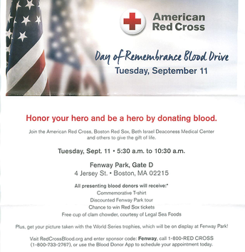 September 11th Blood Drive