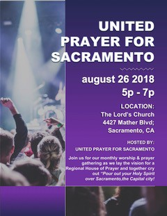 United Prayer for Sacramento - 4th Sunday of each month