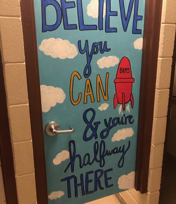 6th Grade Girls Restroom Door