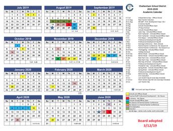 Board Adopts 2019-2020 Academic Calendar