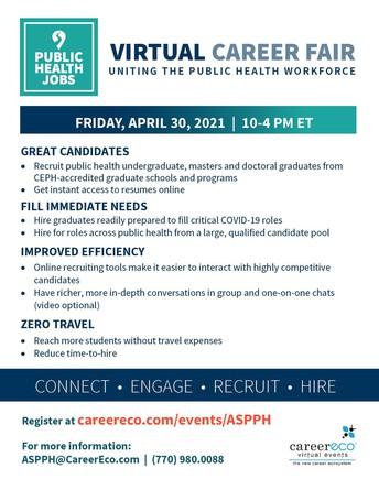 Public Health Jobs Virtual Career Fair