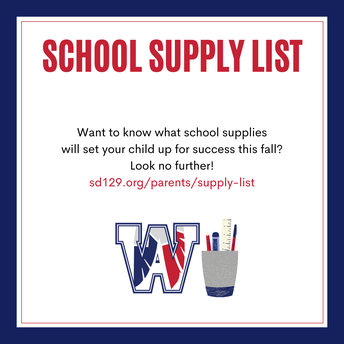 Updated School Supply Lists