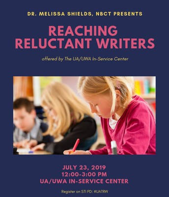 July 23: Reaching Reluctant Writers (Grades 4-12)