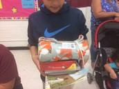 A student won a camp package