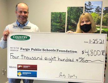 Country Financial Critical Needs Fund Donation