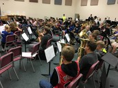 8th Grade Performs with Dallas Brass