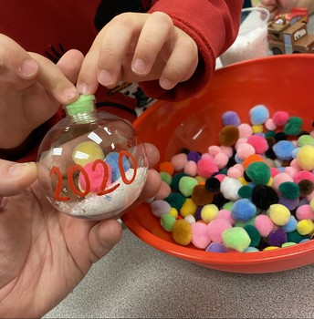 Fine Motor Ornament Making