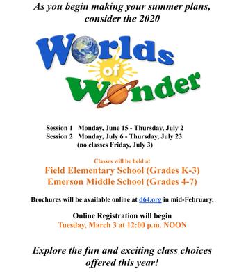 Summer 2020 Worlds of Wonder