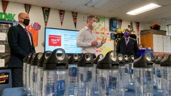 Thank you to Tervis Tumbler and CEO Rogan Donelly for donating 25,000 reusable Tervis cups to our schools! This generous donation will provide a safe and healthy way for our learners to stay hydrated in the classroom, while also eliminating unnecessary trash in our schools.