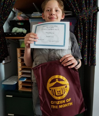 March Citizen of the Month - 5th grade
