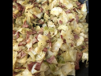 Cabbage with Turkey Bacon