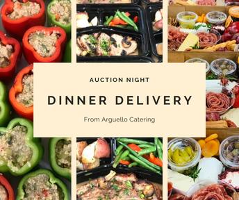 Auction Night Dinner Delivery from Arguello Catering (Cena con entrega a domicilio durante la noche de subasta de Arguello Catering)