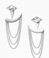 Drape Ear Jackets - Silver